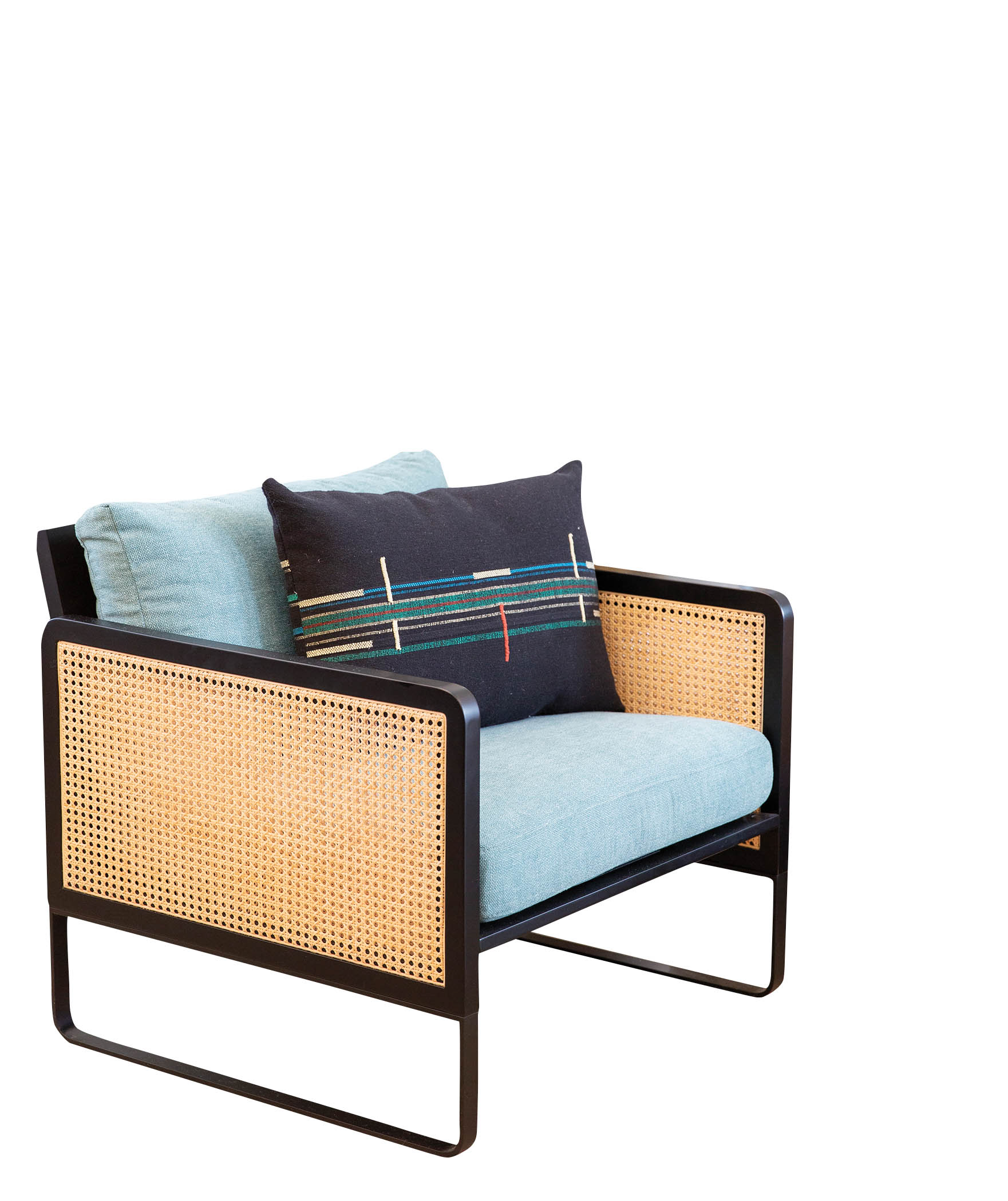 modern cane lounge chair