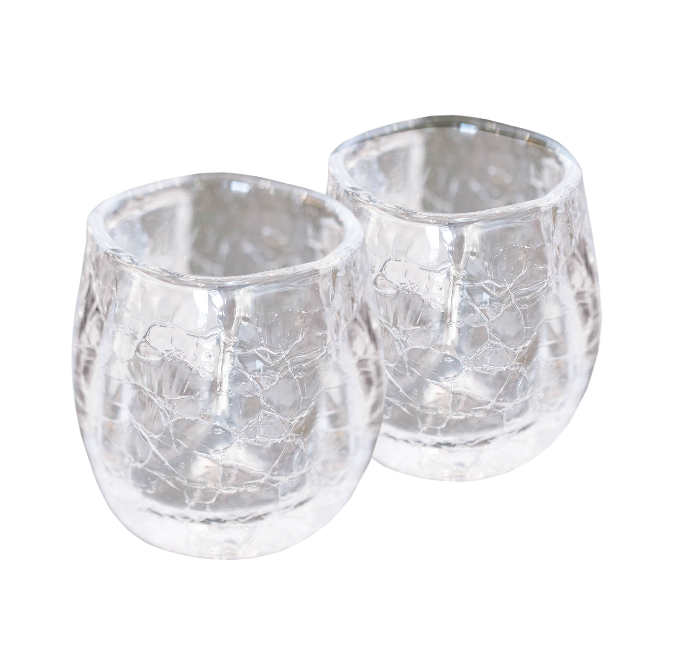 two pieces of glassware