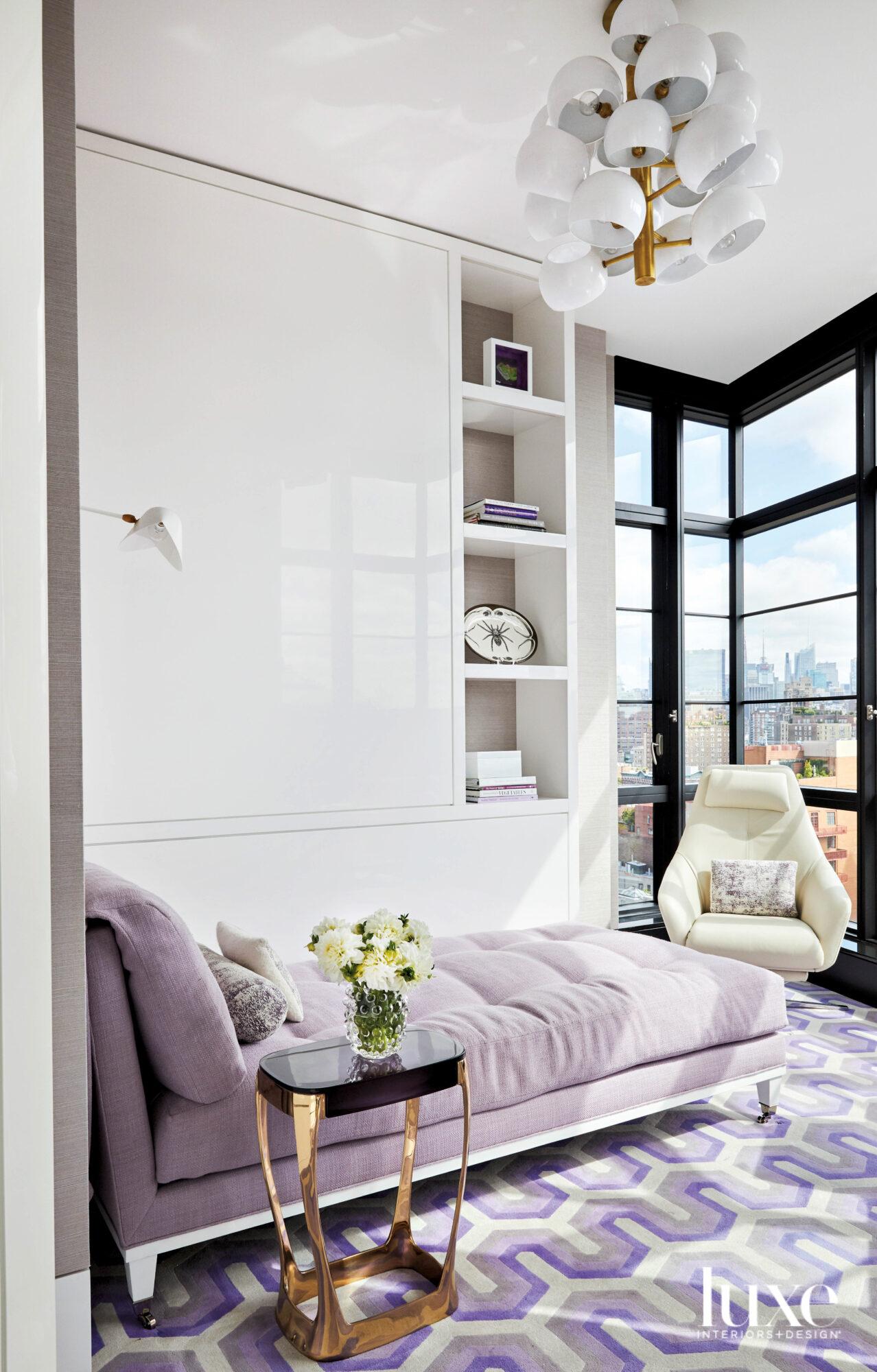 lavendar chaise lounger