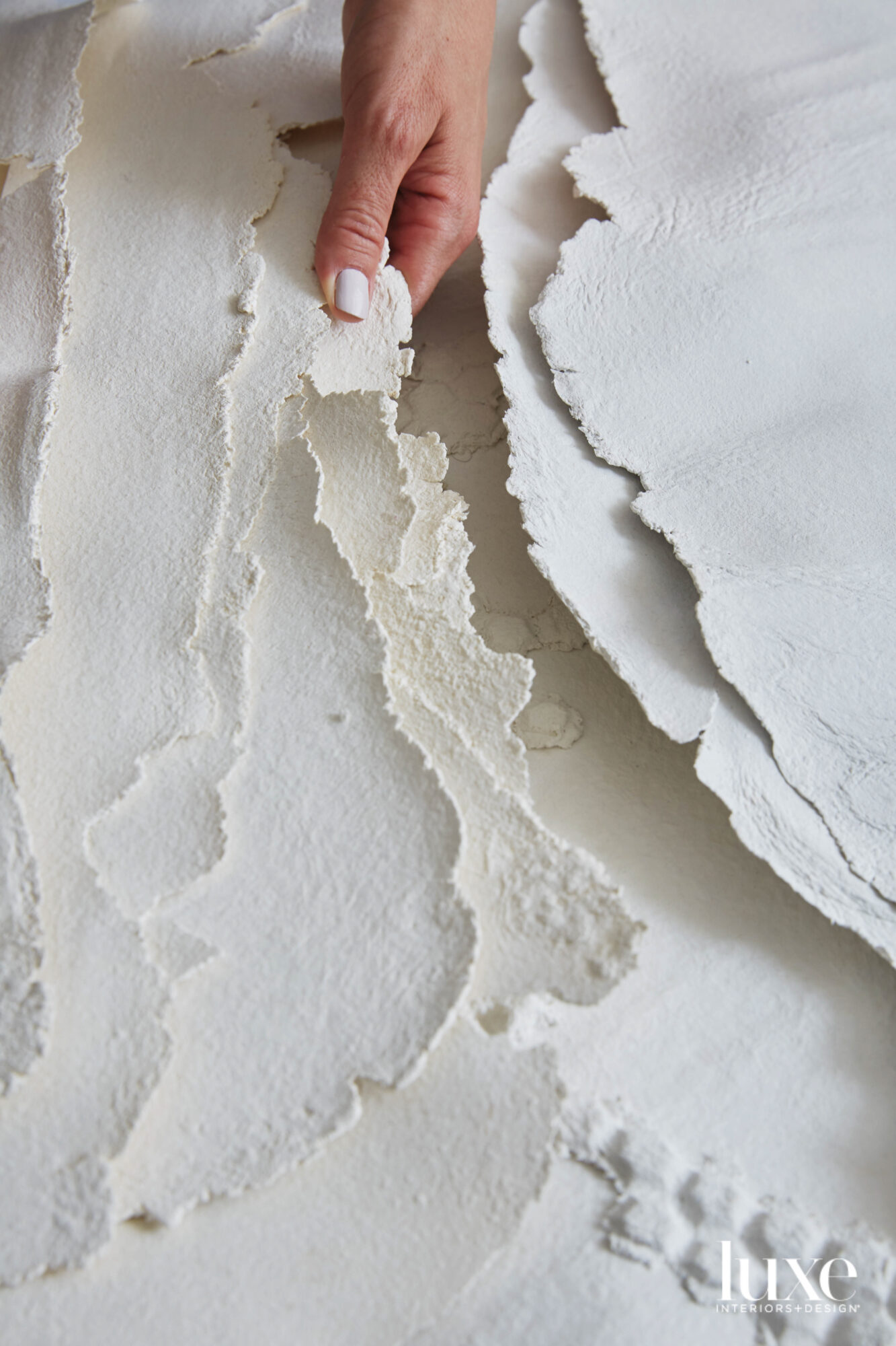 delicate sheet from plaster
