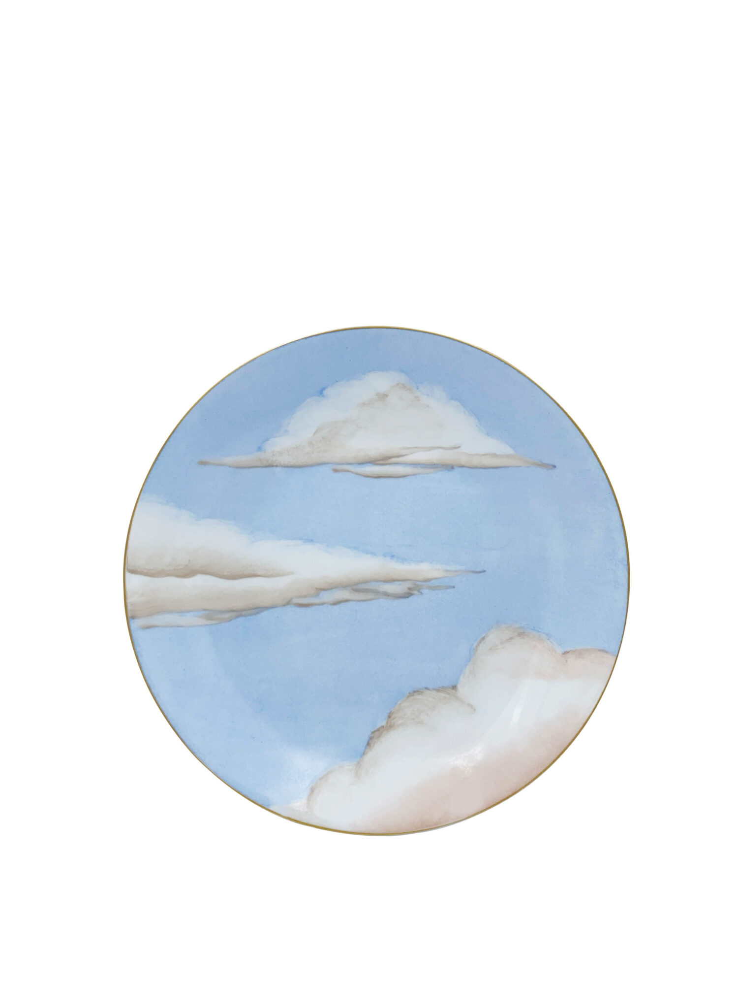 blue sky and cloud plate