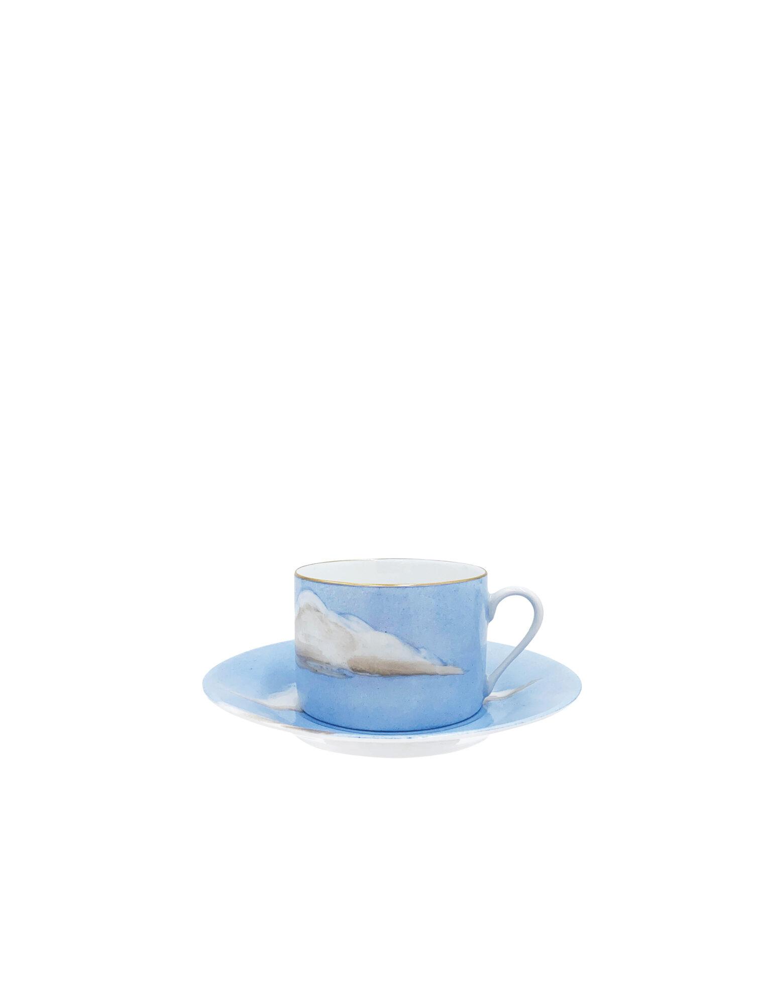 blue sky and cloud mug and saucer