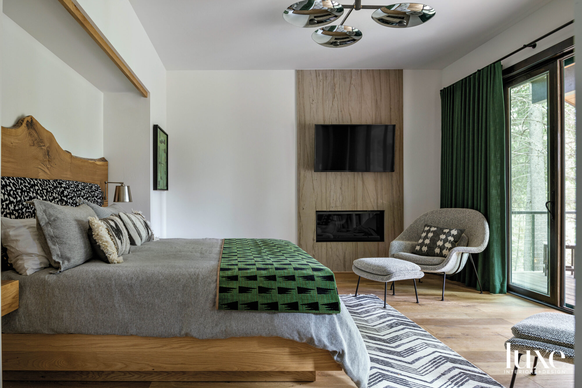 Main bedroom with live edge...