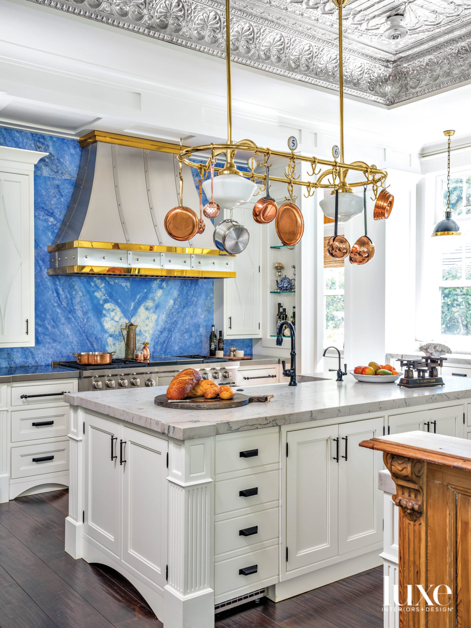 kitchen with tin ceiling, a...