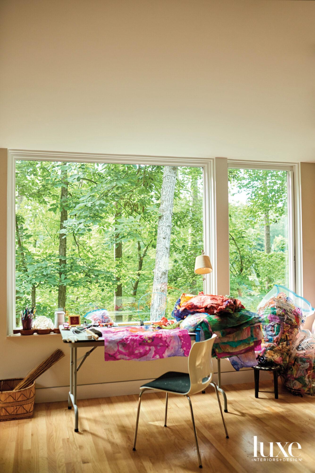 Window with desk