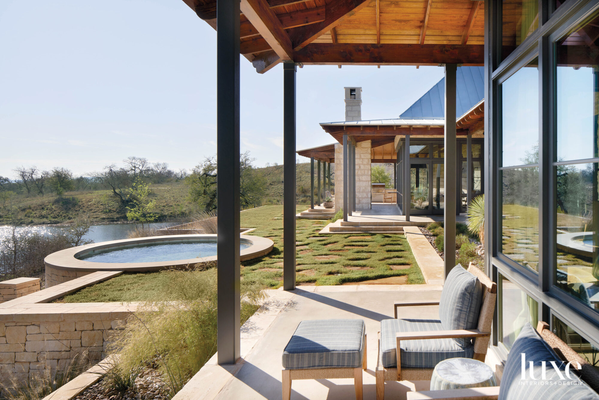 Outdoor living area with a...