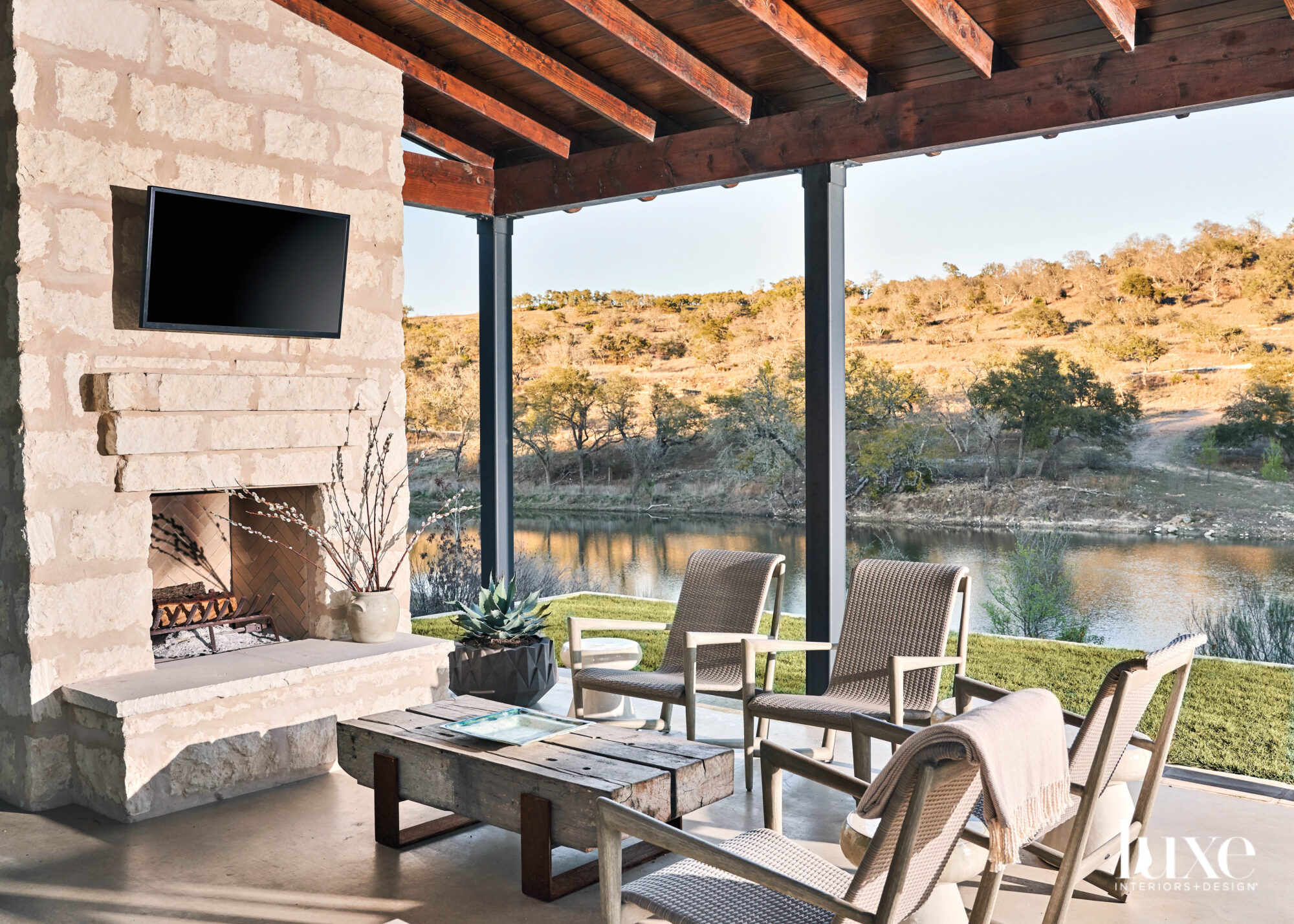 Outdoor seating area overlooking a...