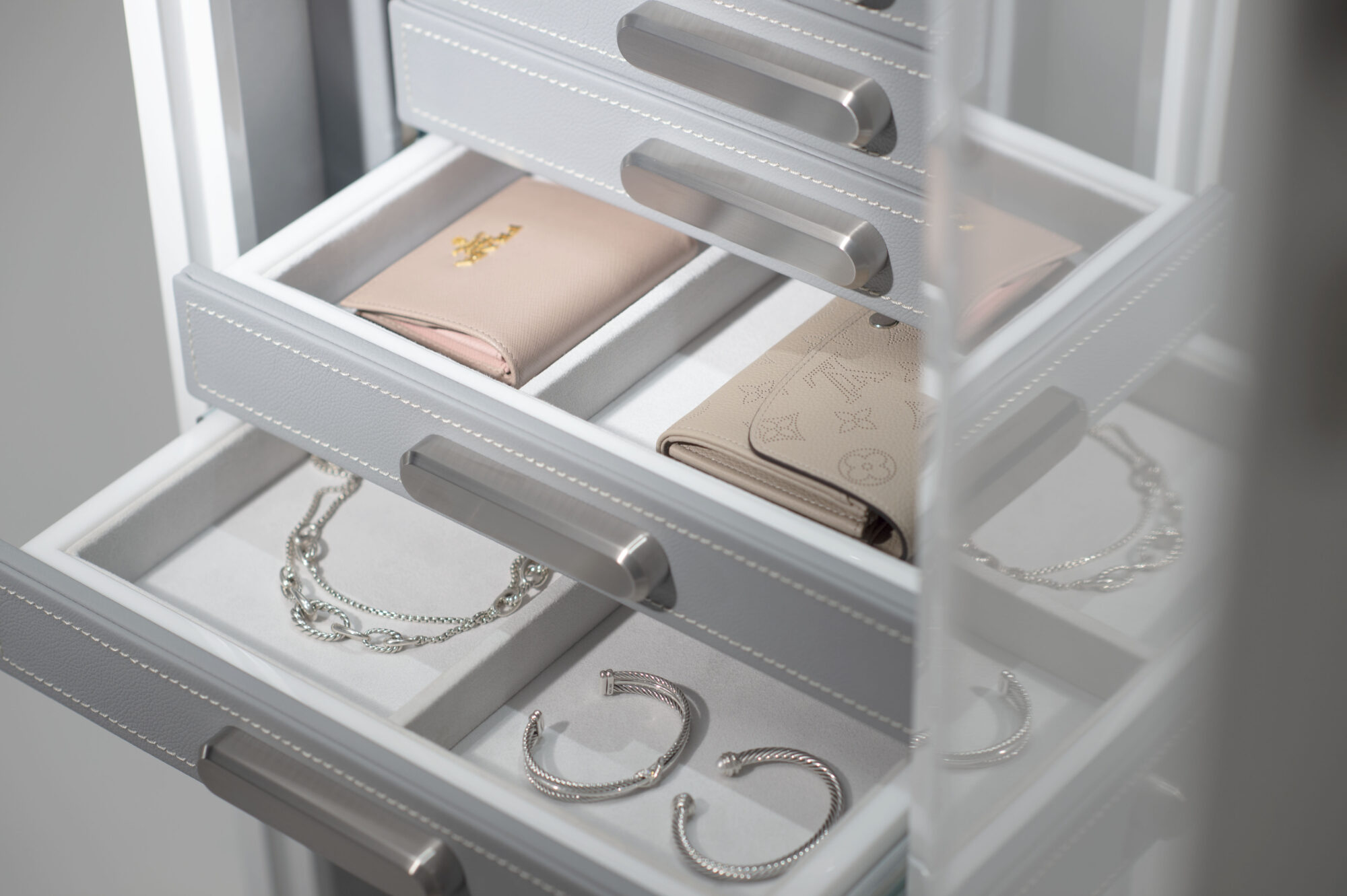 jewelry drawers brown safe