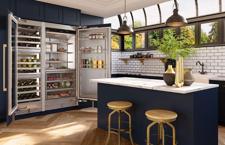 open refrigerator blue island
