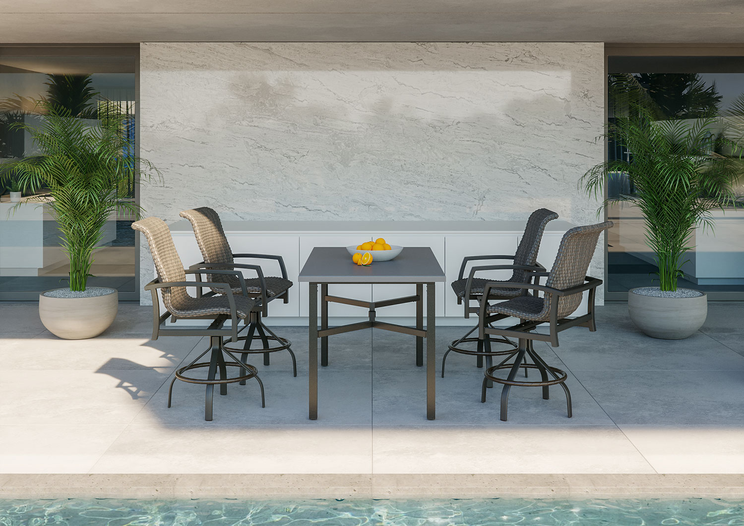 tropitone outdoor chairs table