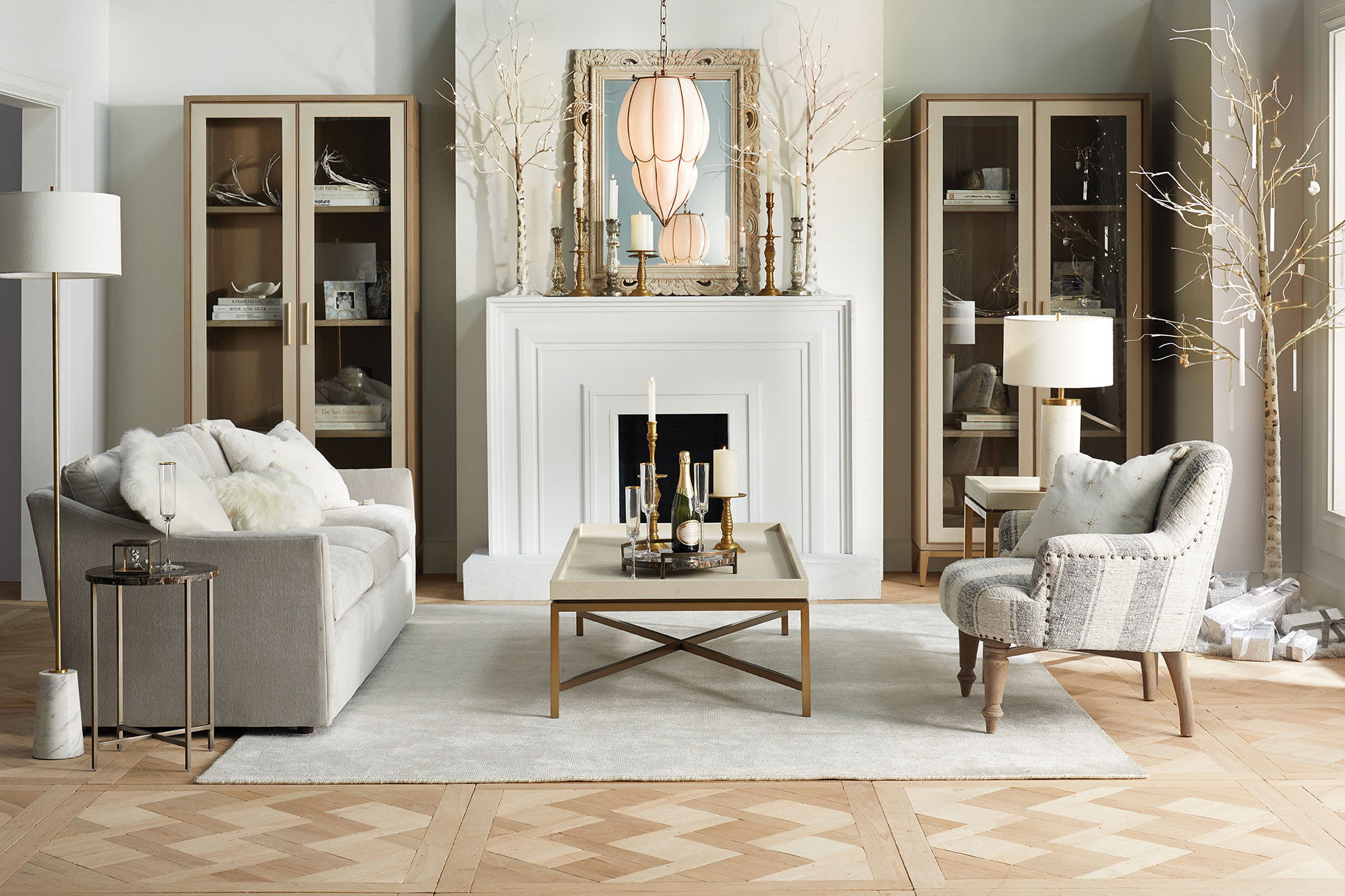 living room fireplace arhaus furniture