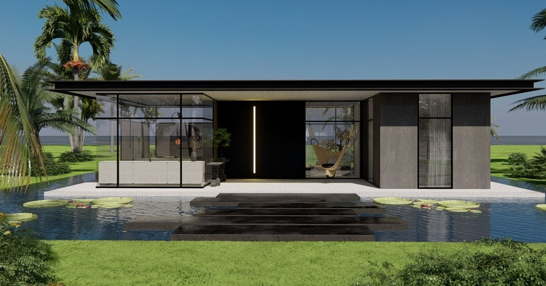 rendering of exterior casacor project