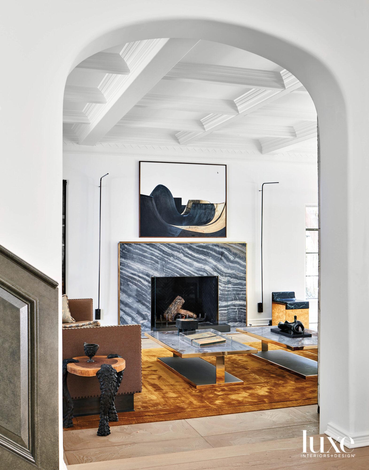 View through doorway into living...