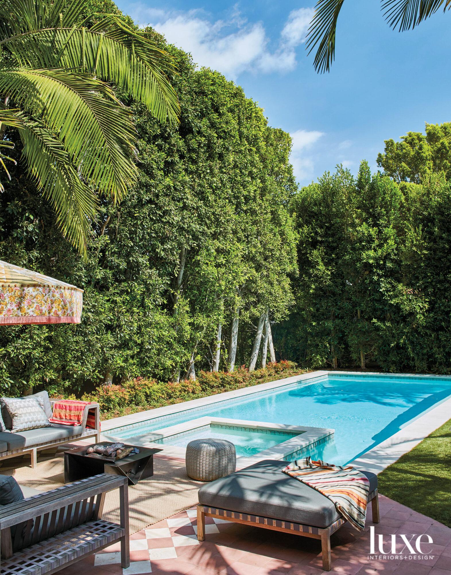 View facing pool