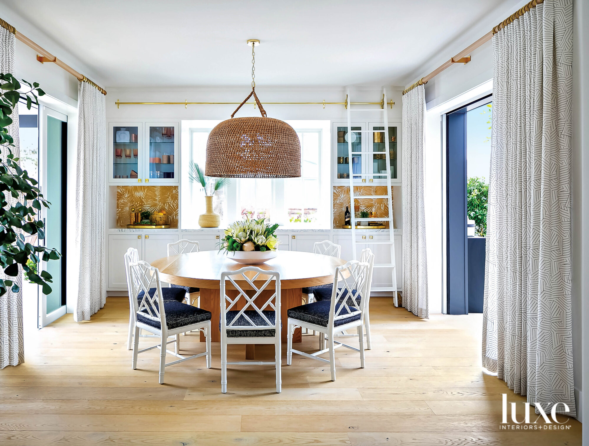 Dining area with round table...