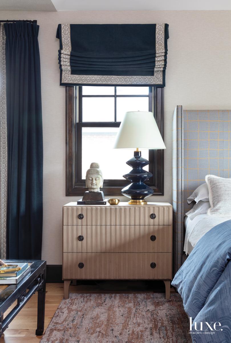 master bedroom with lee jofa...