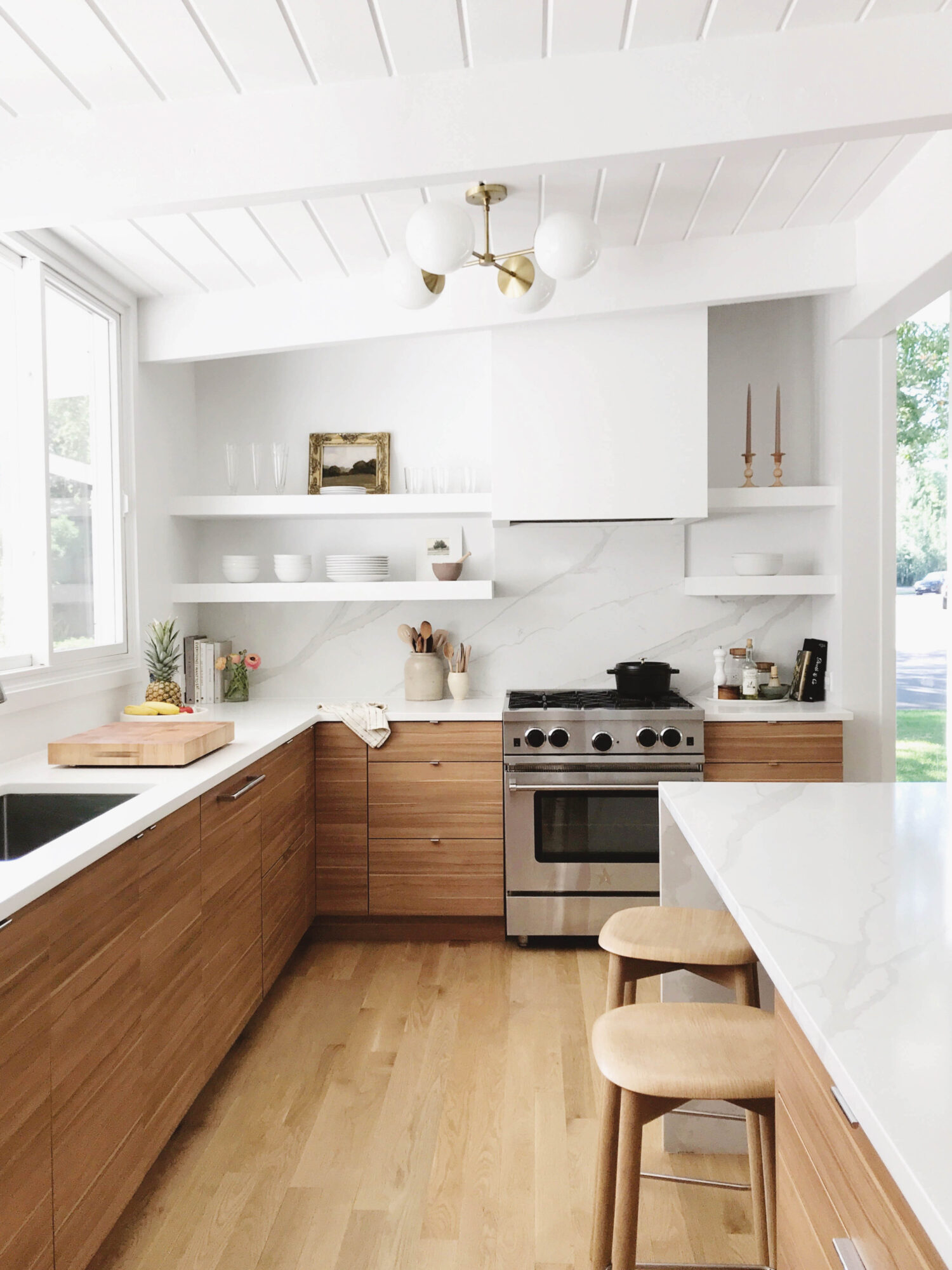 white kitchen wood cabinets