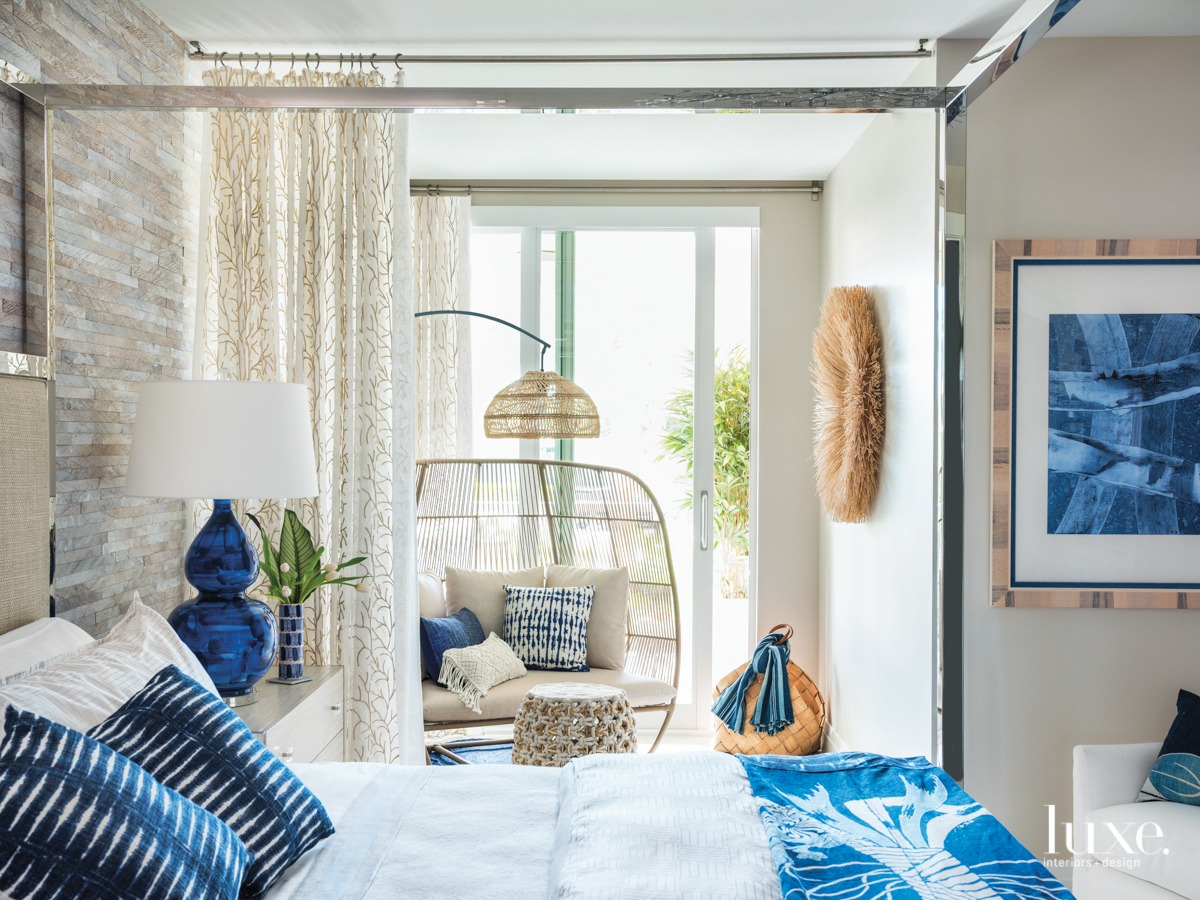 blue white guest bedroom