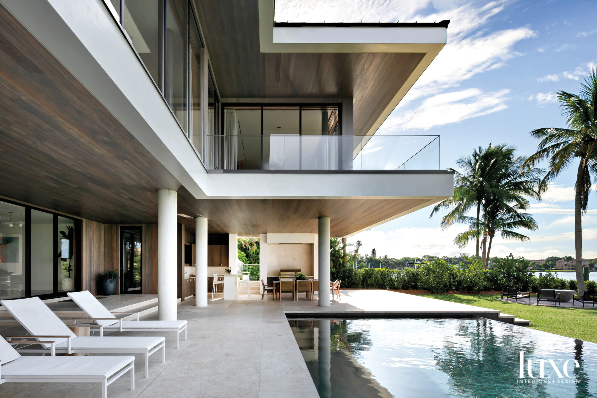 Infinity pool with outdoor dining...