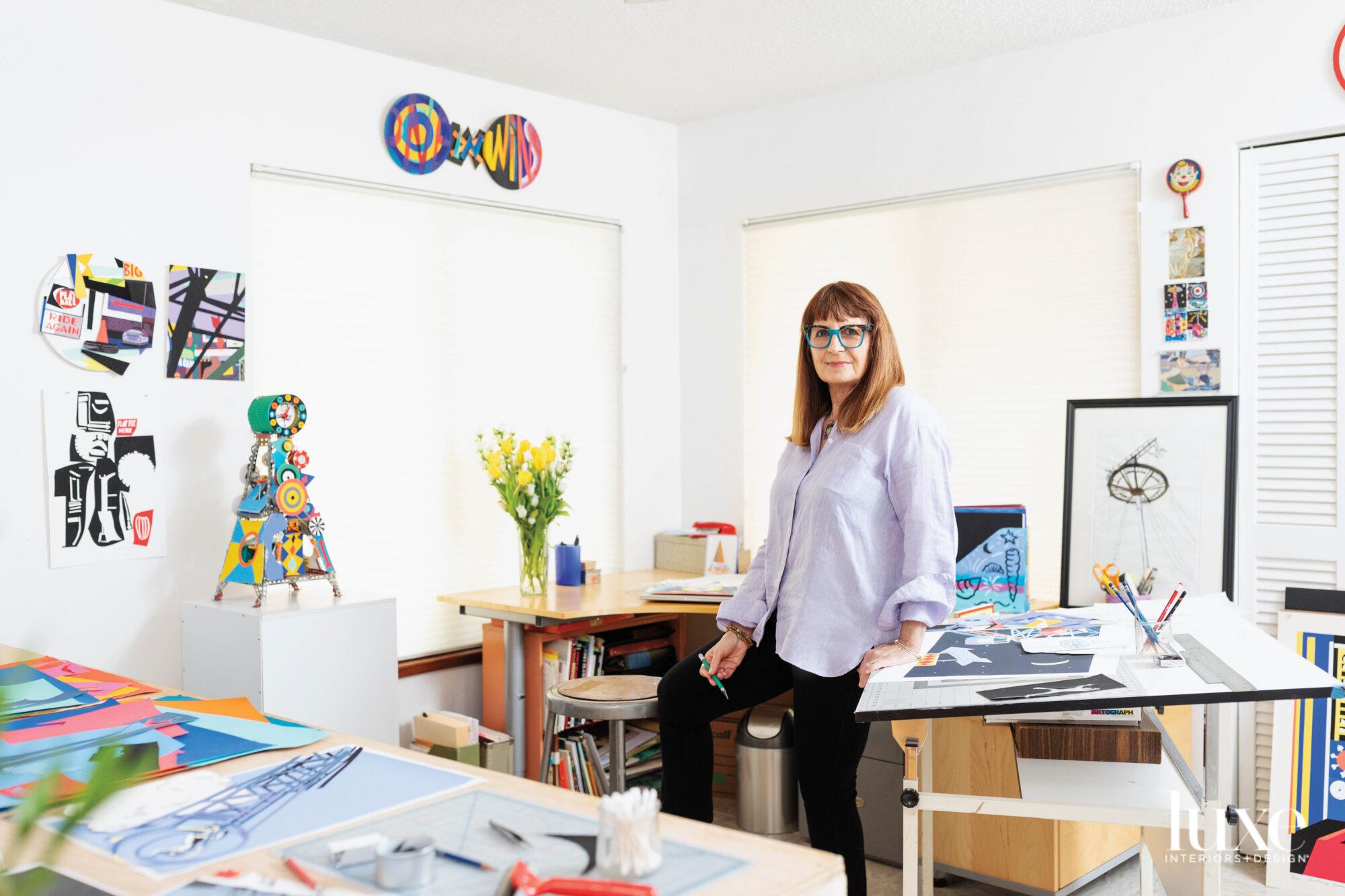 Artist Philomena Marano studio portrait