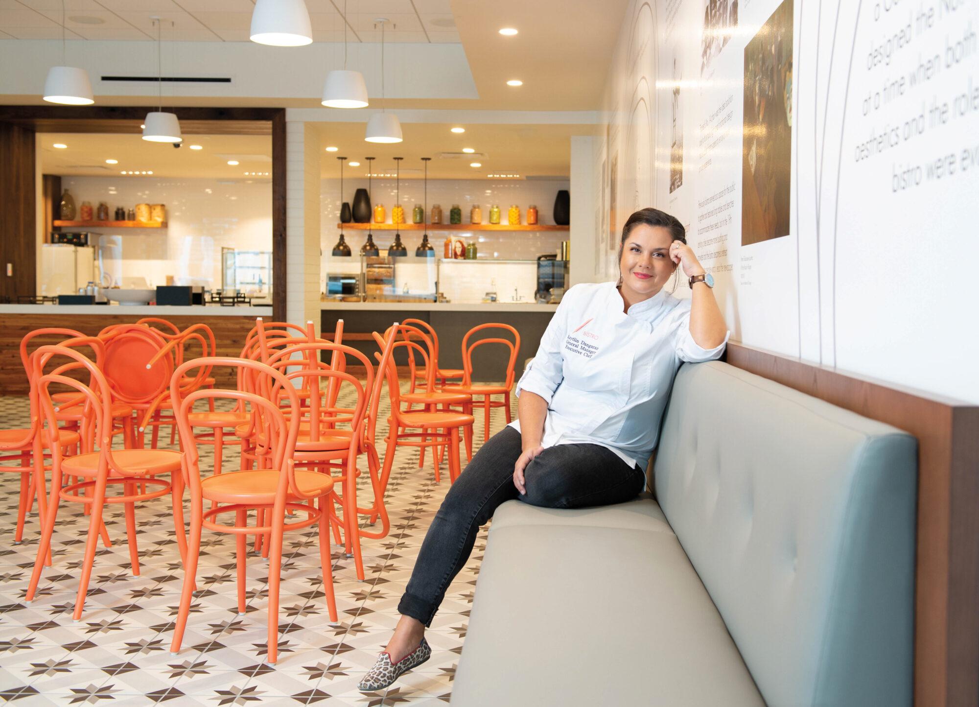 Portrait of chef Kaytlin Dangaran at Sarasota restaurant