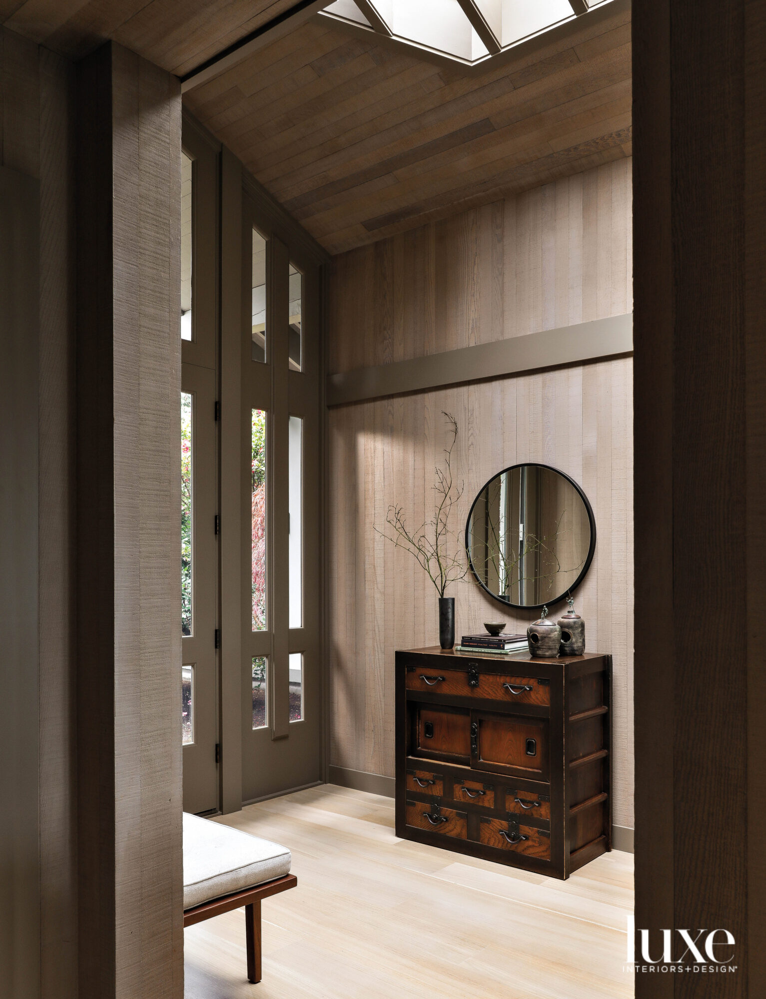 Entry vignette with Asian chest...