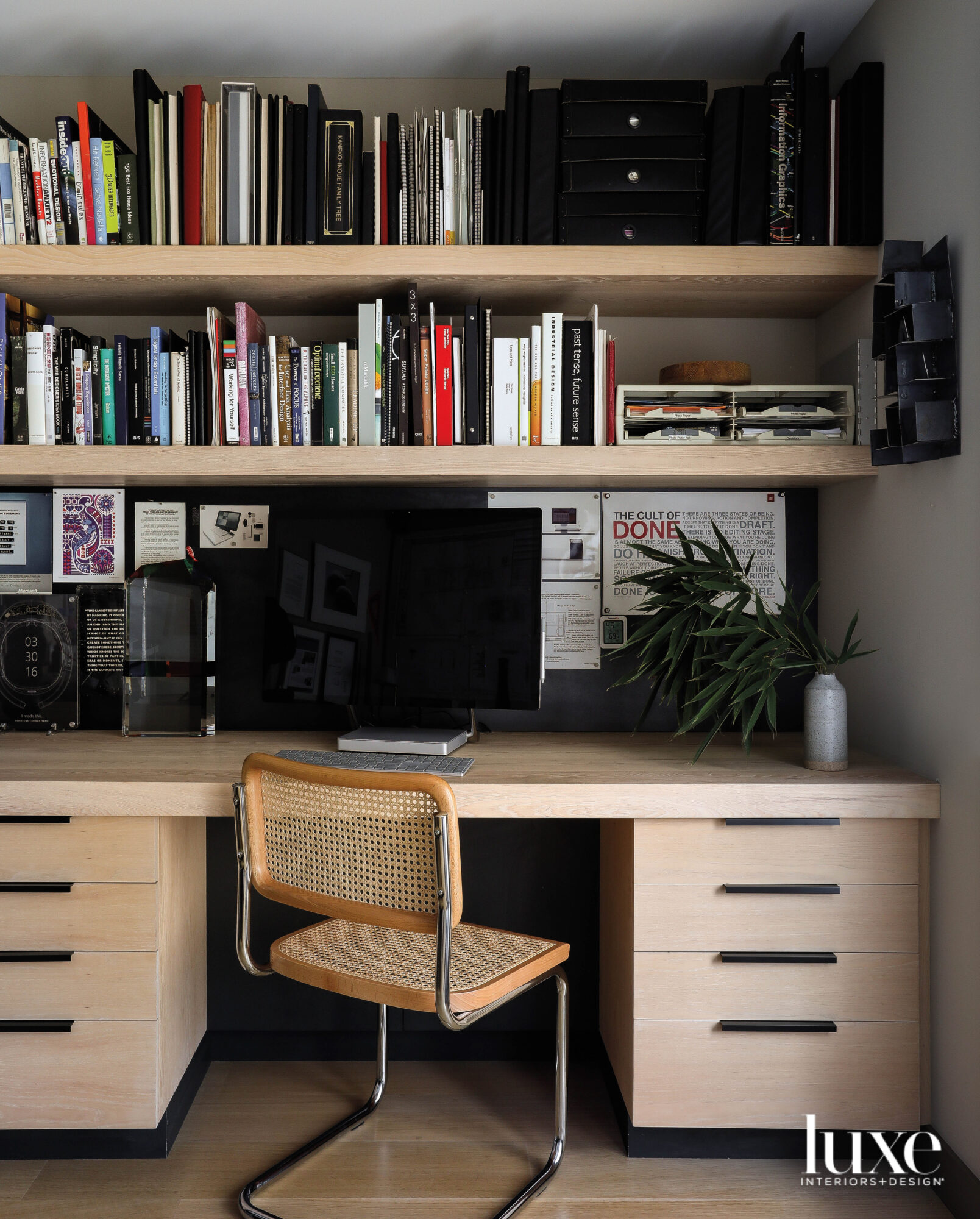 Detail of office with chair...