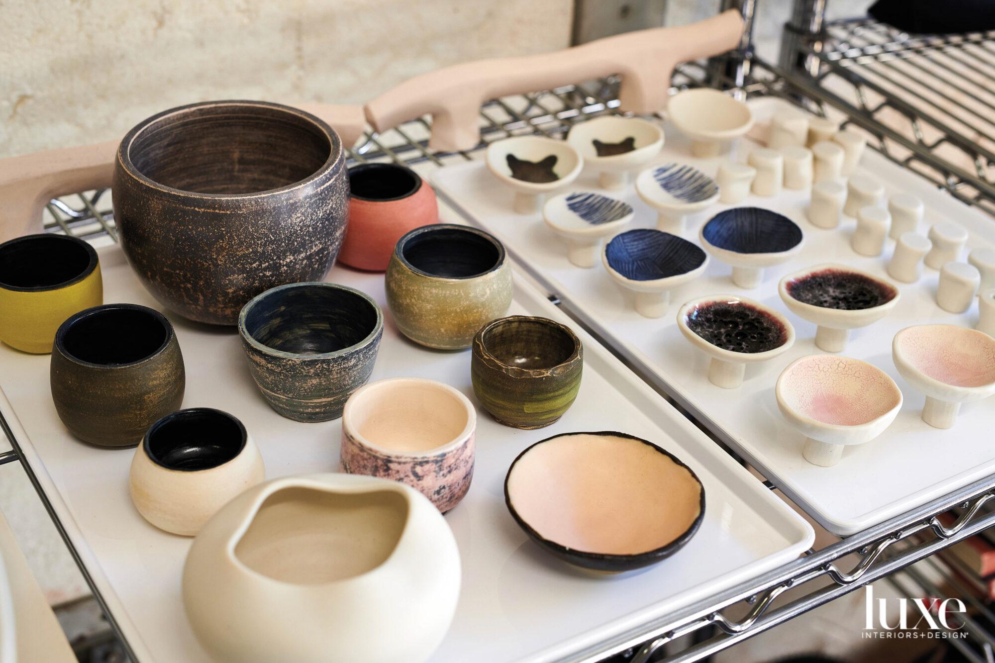 A collection of smaller ceramic pieces.
