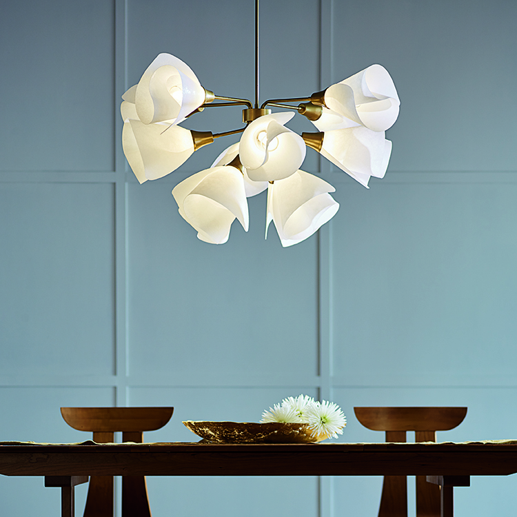 hubbardton forge light fixture blue wall