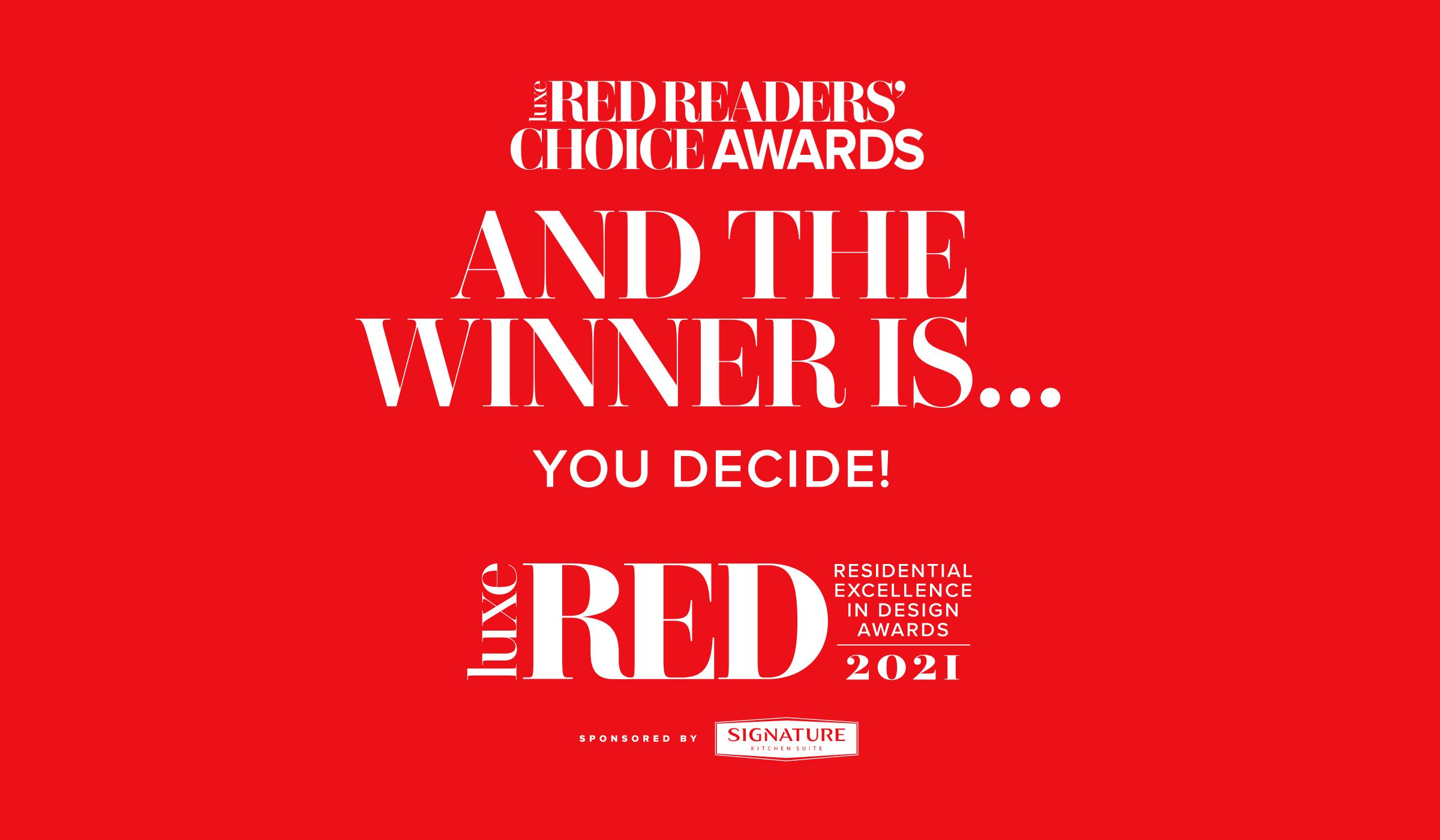 Vote For Your Favorite Designs In Our RED Readers' Choice Awards