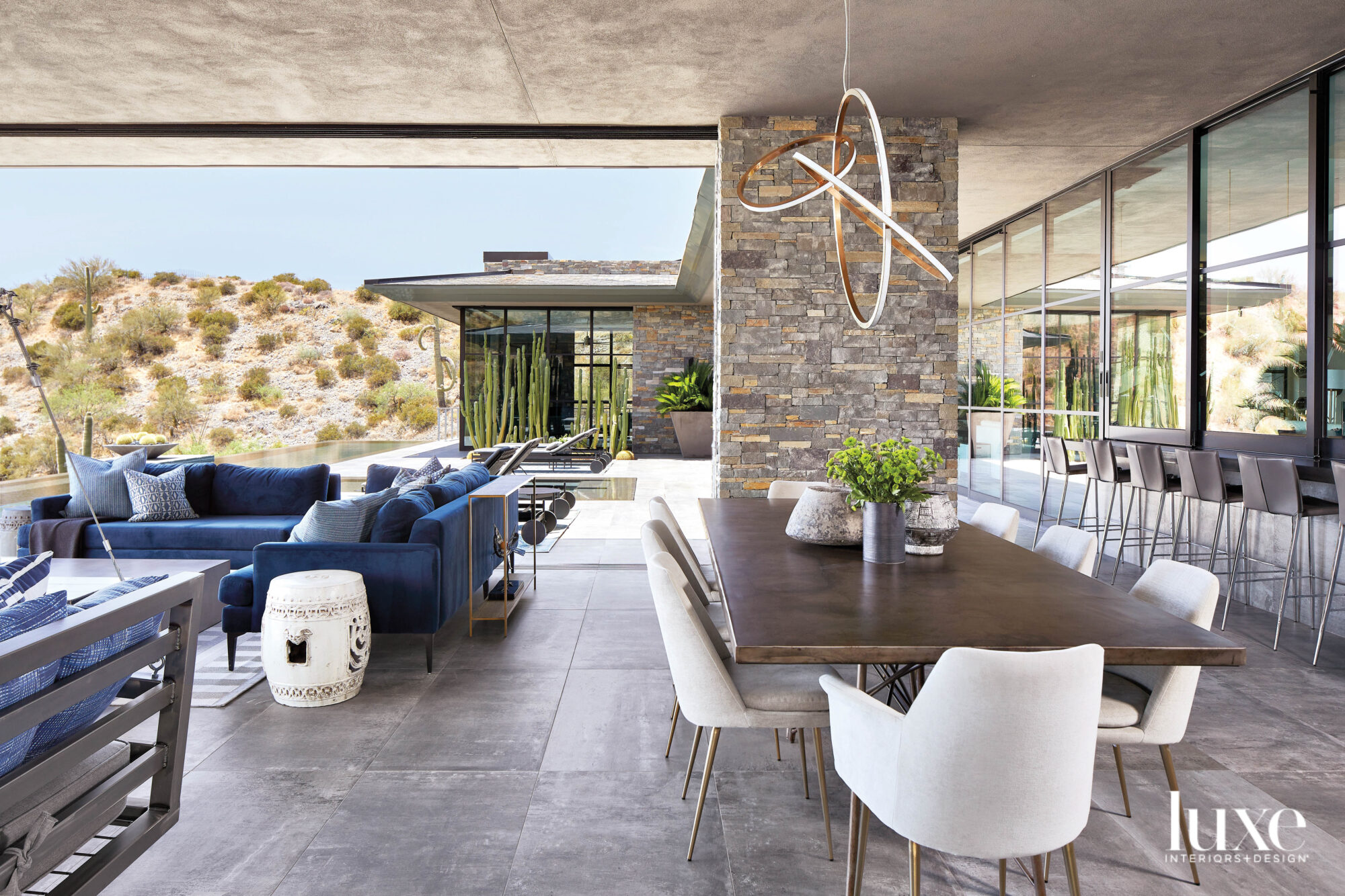 An outside dining and entertaining...