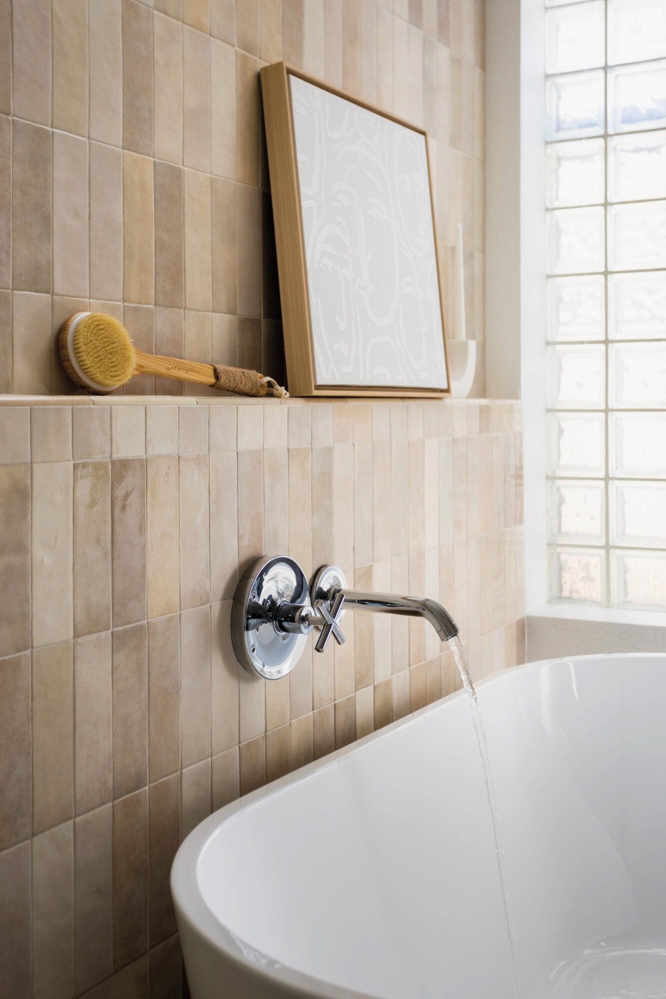 mounted faucet bathroom
