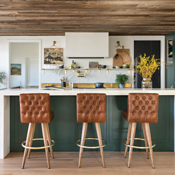 Green Takes Center Stage In A Restored 1927 Dutch Farmhouse Kitchen