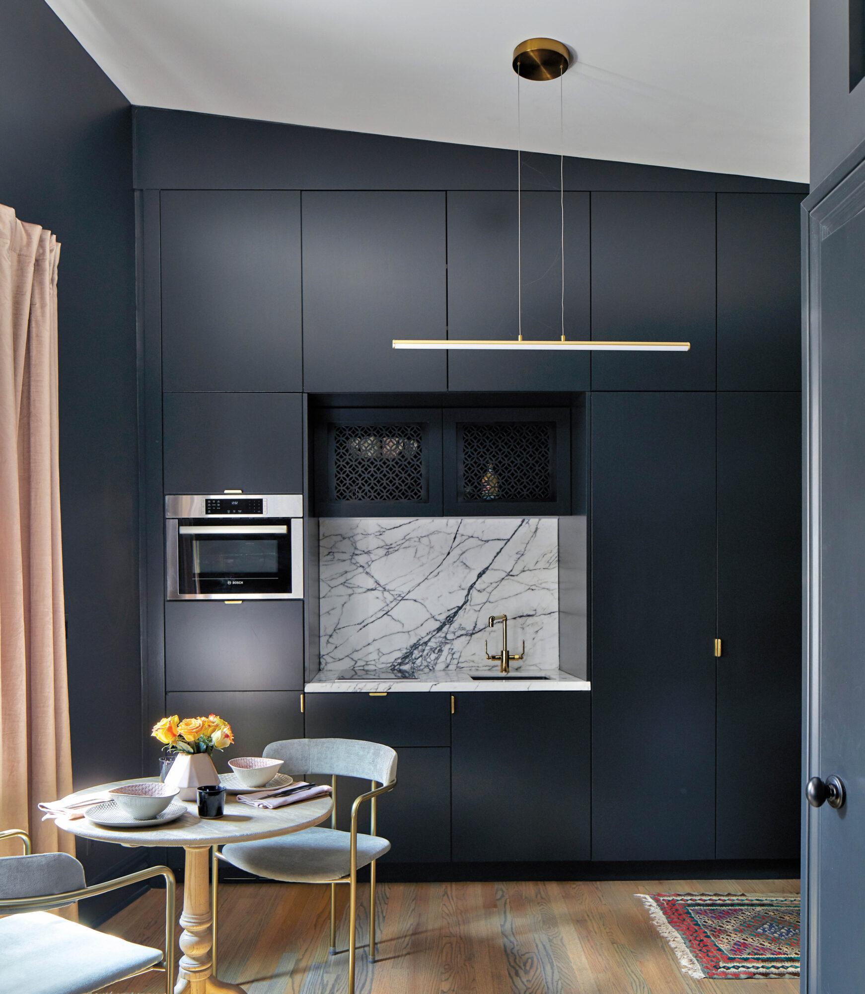 off-black kitchen