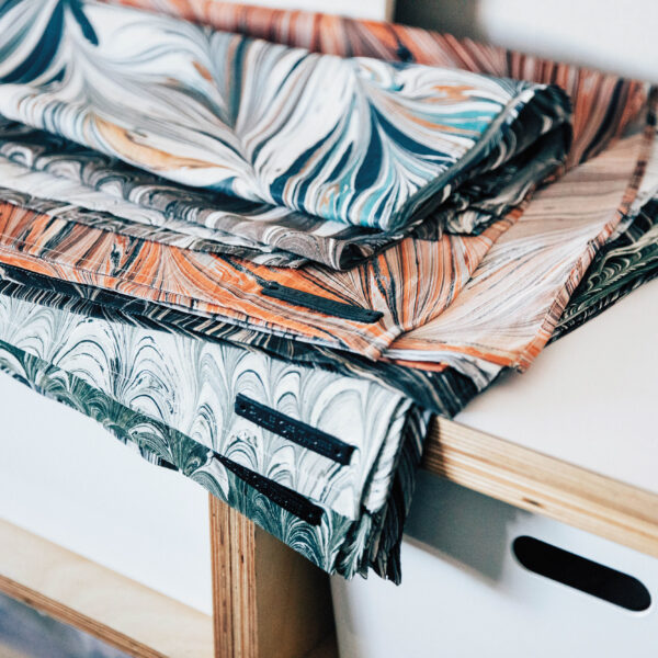 Cue The Heart Eyes For This L.A. Creative's Hand-Marbled Textile Designs