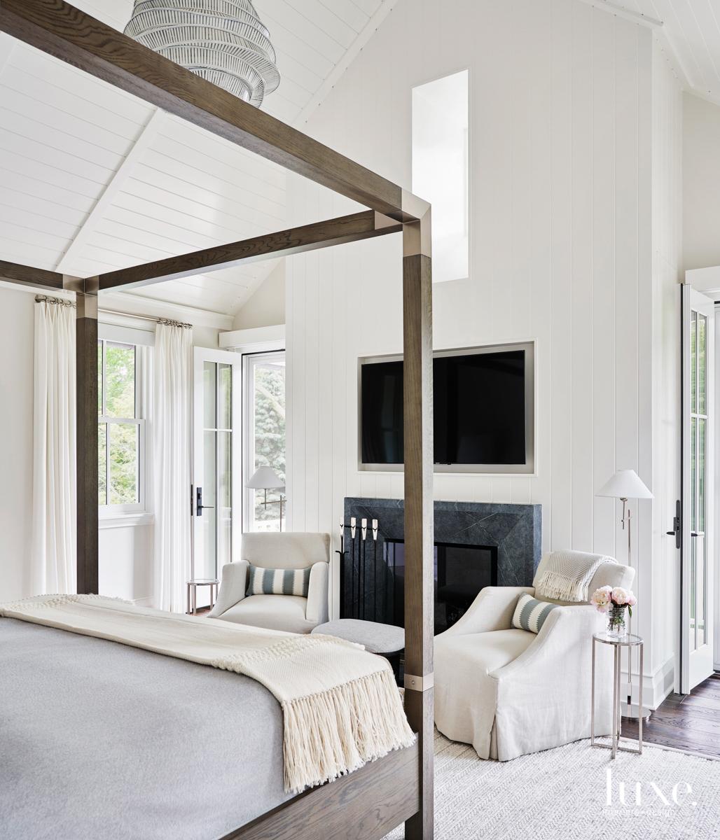 master bedroom with bernhardt furniture
