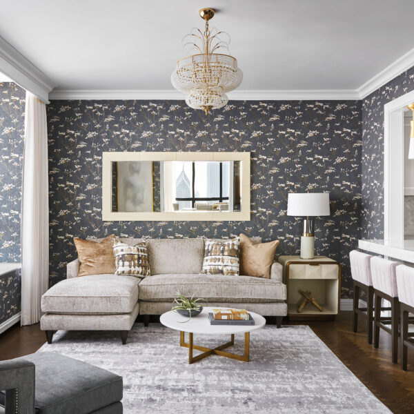 A Magnificent Mix Of Masculine And Glam Dignifies A Chicago High Rise