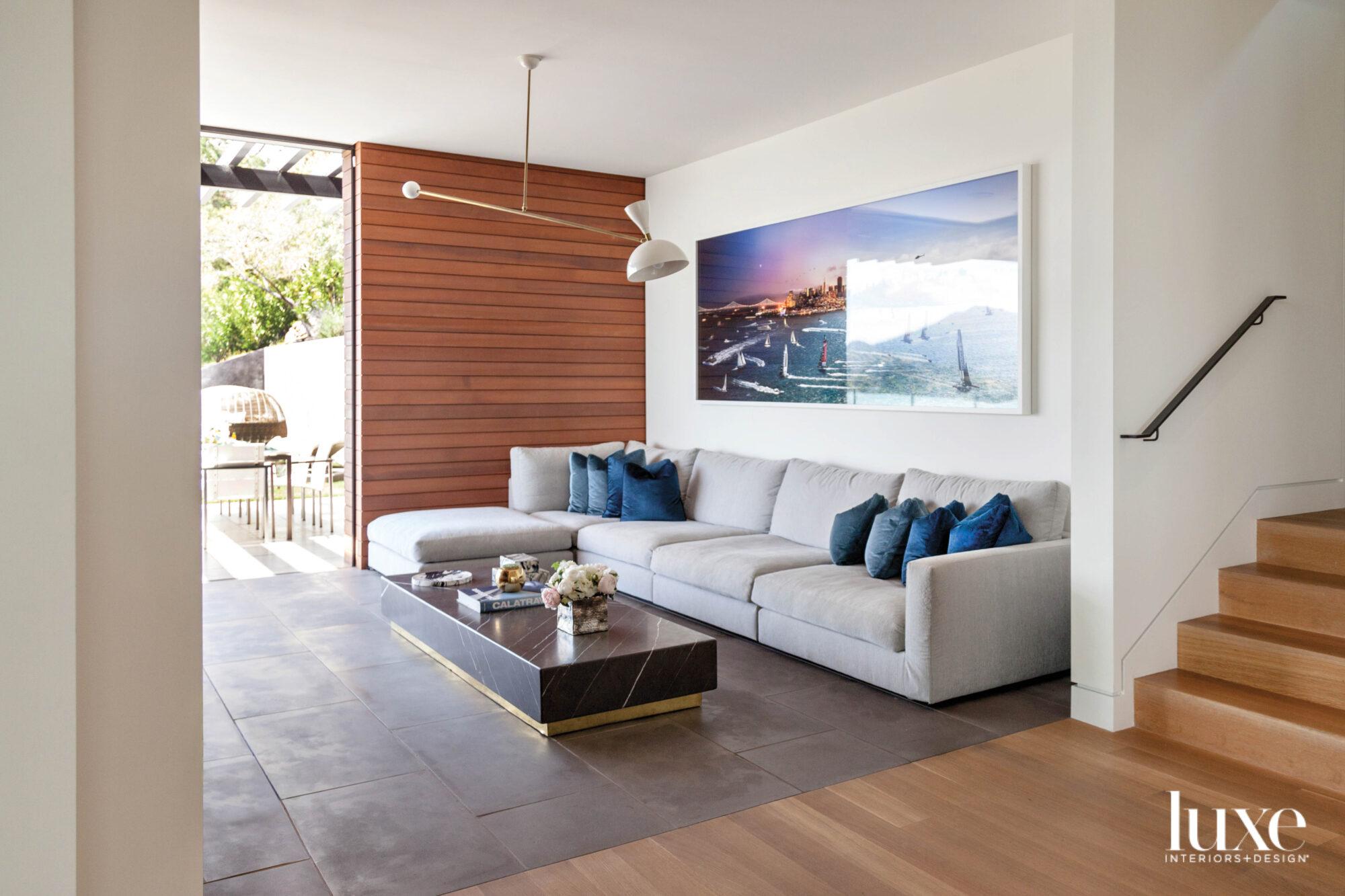 modern sofa media room