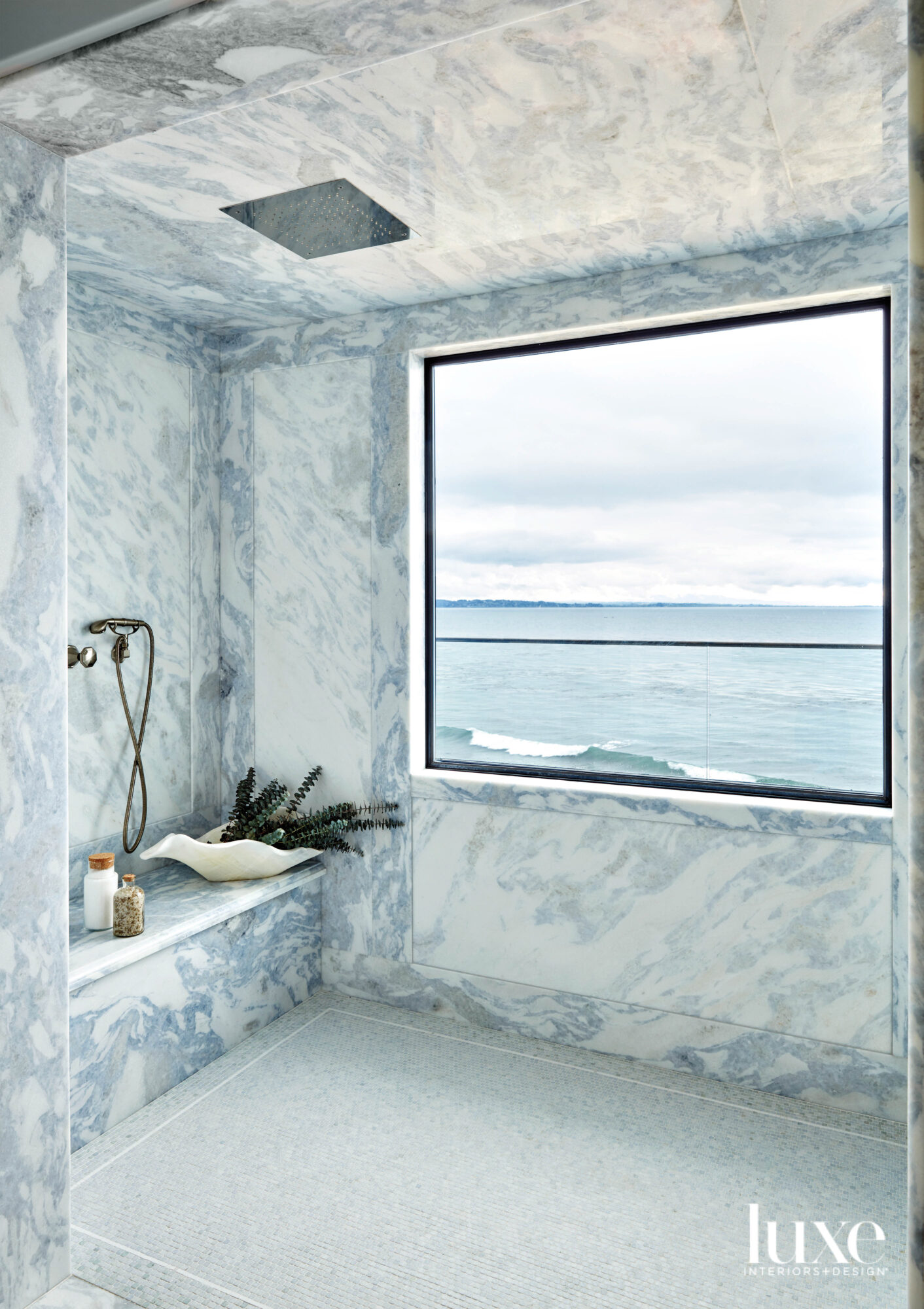 marble bathroom shower