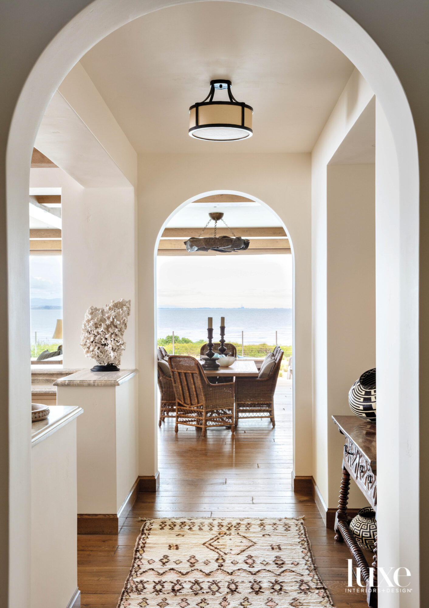 dining table with light fixture...