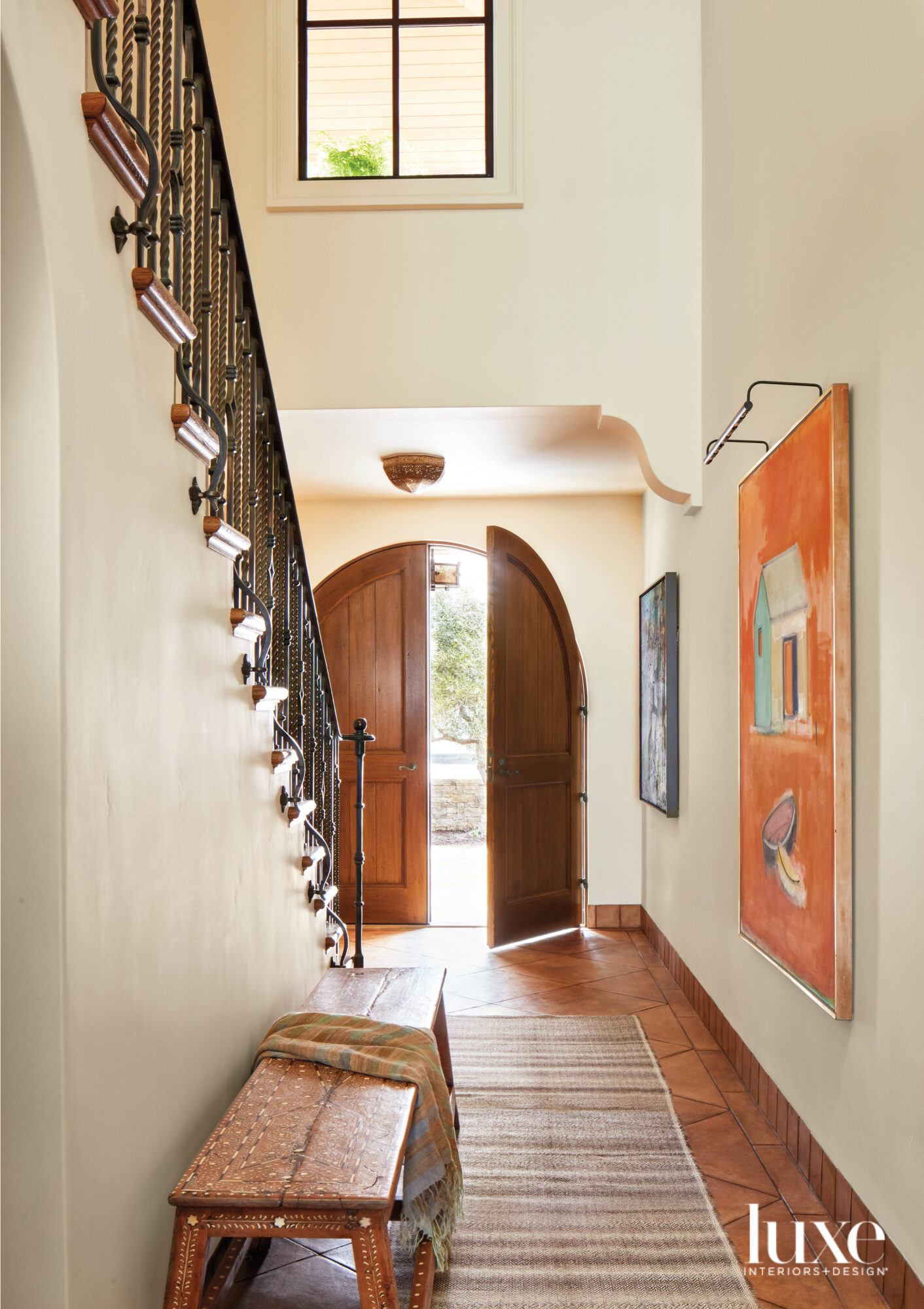 spanish-style architecture entry