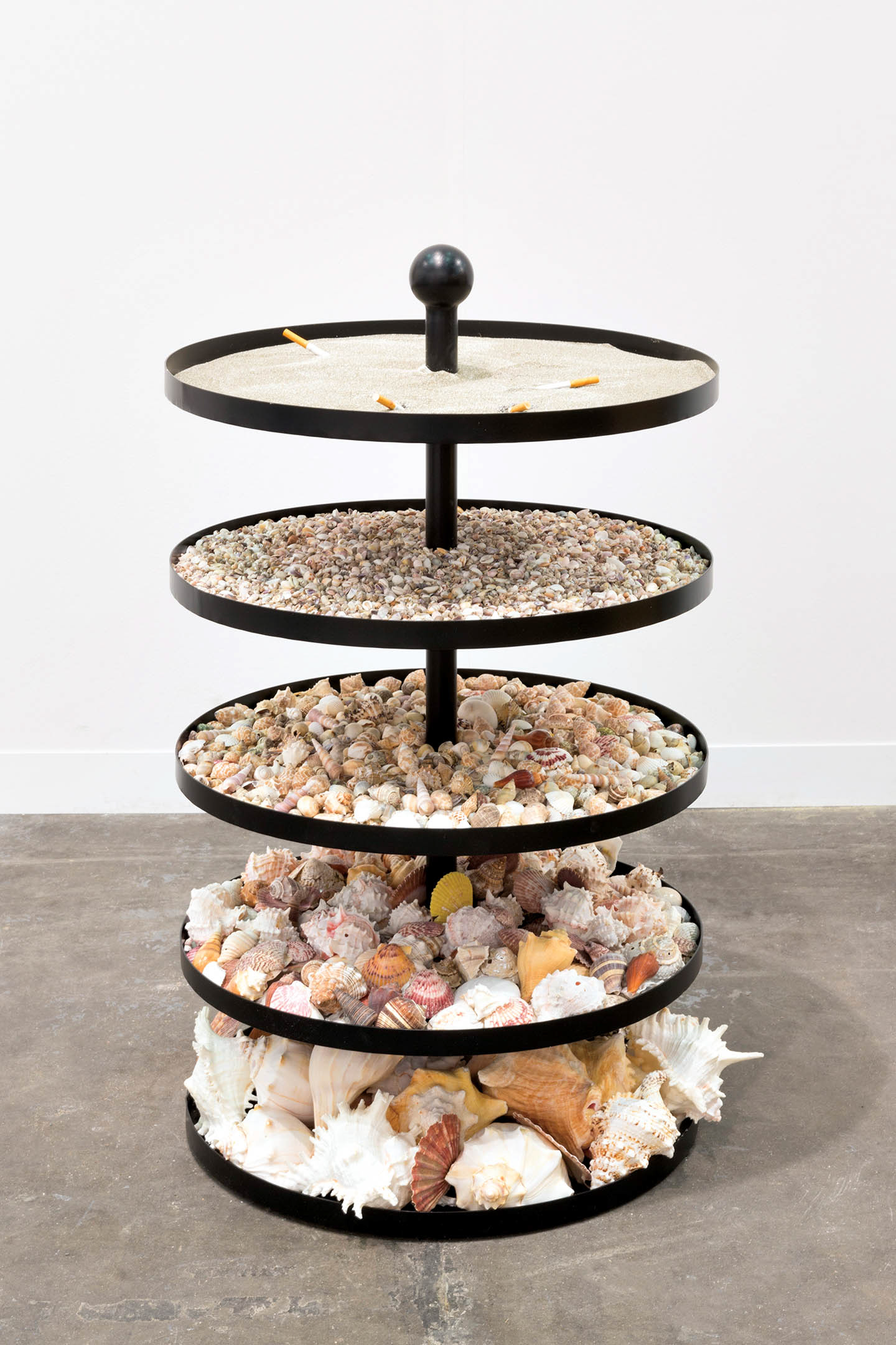 5-tired stand full of shells
