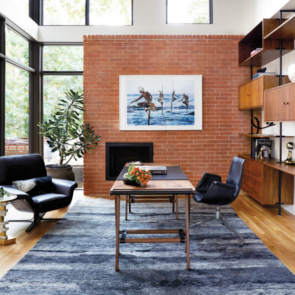 Fall In Love With One-Of-A-Kind Spaces In This Midcentury-Style Dallas Home