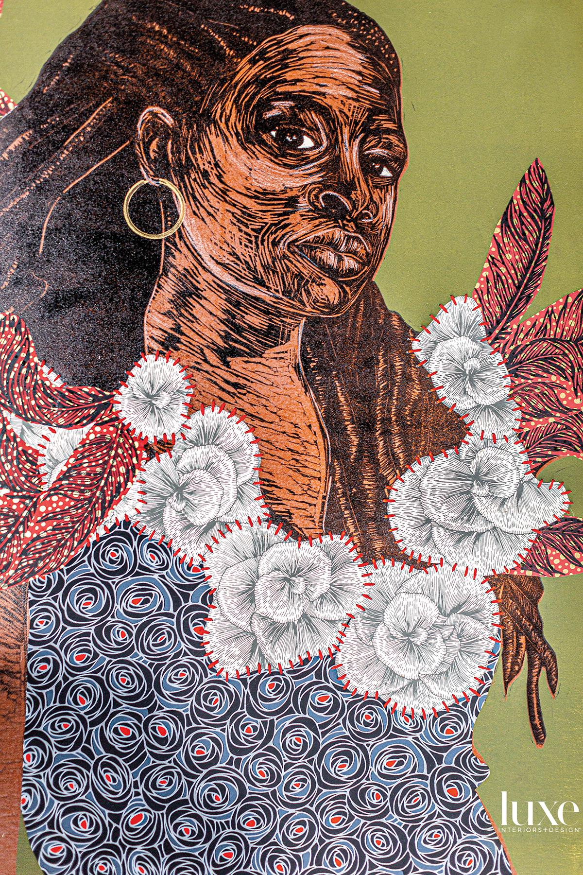 Delita Martin's mixed-media prints