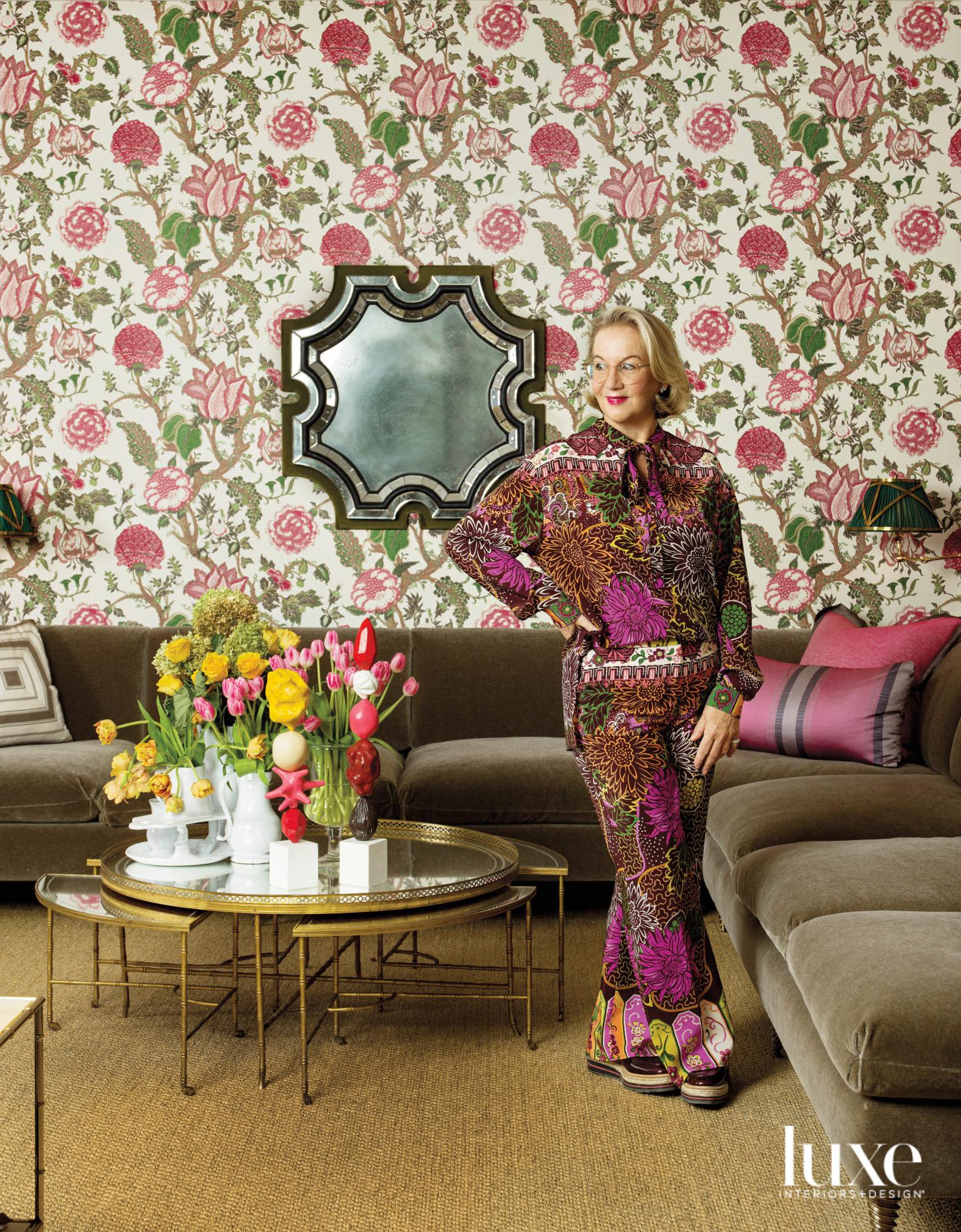 alessandra branca portrait floral wallpaper