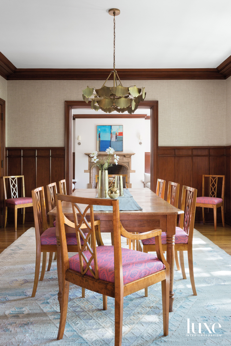 Dining room with chairs and...