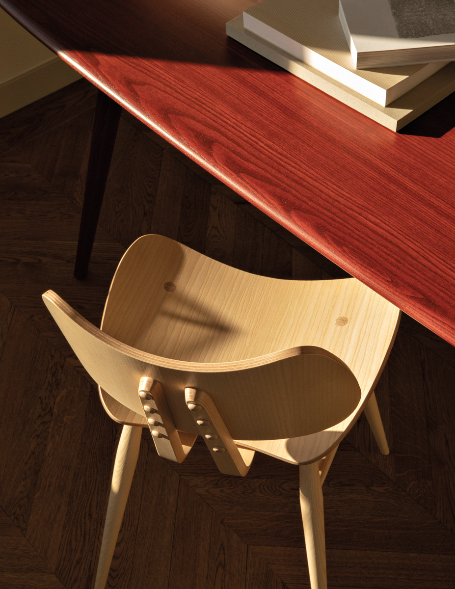 closeup of wooden chair