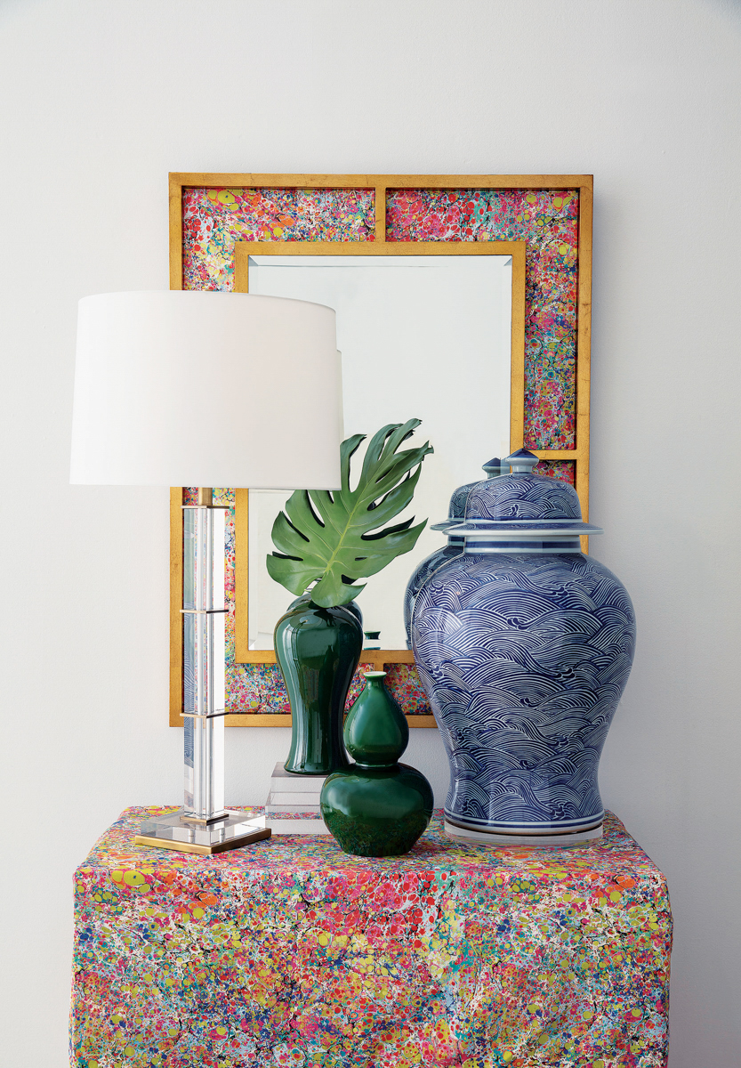 vignette of table and mirror