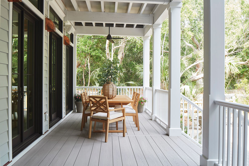 timbertech slate gray front porch