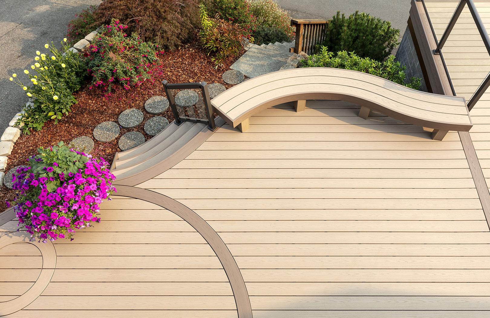 TimberTech brownstone deck